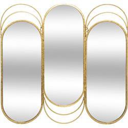 Potrójne metalowe lustro ścienne Edi