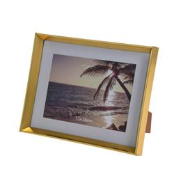 Złota ramka na zdjęcia stojąca13x18 cm