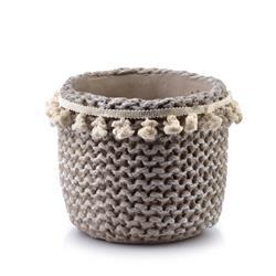 Doniczka ceramiczna Rosita Pompoms 17 cm