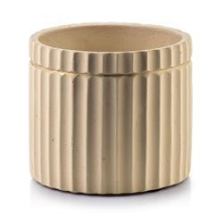 Doniczka ceramiczna Rosita Grooves Beige