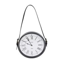 Zegar ścienny metalowy na pasku