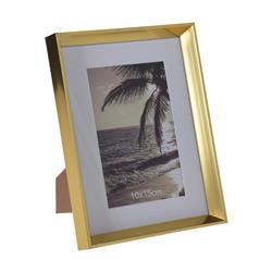 Złota, stojąca ramka na zdjęcia 10x15 cm