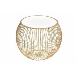 Stolik kawowy okrągły 51 cm złoto biały