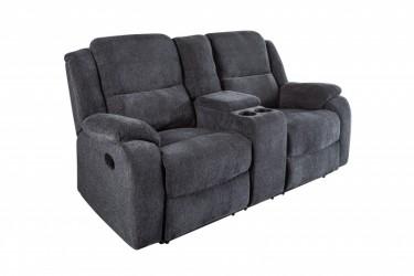 Fotel kinowy dwu osobowy ciemno szary