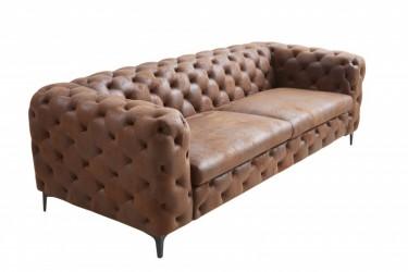 Sofa Modern Barock 240 cm pikowana brąz