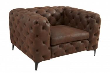 Fotel Modern Barock brązowy pikowany
