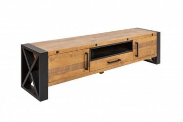 Półka telewizyjna 200cm naturalne drewno