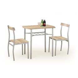 Zestaw Lance stół i 2 krzesła dąb sonoma