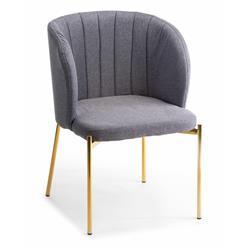 Krzesło tapicerowane Marselo Gold Gray