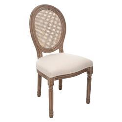 Drewniane krzesło Cleon białe