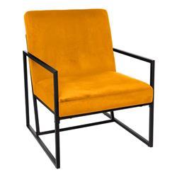 Metalowy fotel Micah Orange Velvet