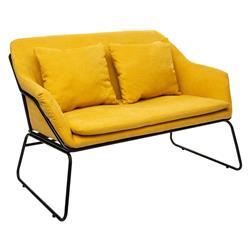 Sofa 2 osobowa Chet żółta