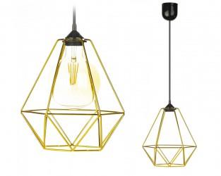 Lampa wisząca Paris Diamond 24 cm złota