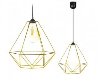Lampa wisząca Paris Diamond 35 cm złota