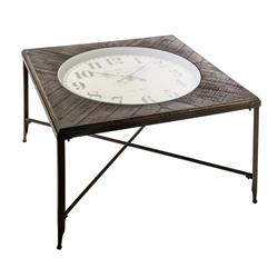 Stolik kawowy Chrono z zegarem 90x90 cm