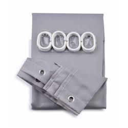Zasłona prysznicowa Zac Grey 150x200 cm