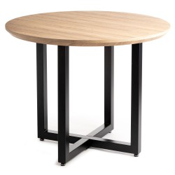 Okrągły stół Suri Black Oak 100 cm