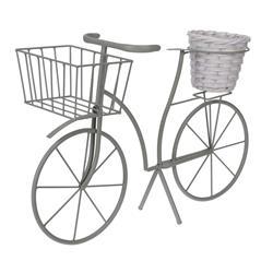 Kwietnik ogrodowy rower z donicą zielony