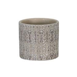Donica cementowa szaro-srebrna 12x10.5cm