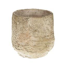 Donica cementowa beżowa 16x15.5 cm