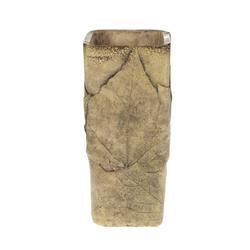 Donica cementowa z wzorem liści 26x12 cm
