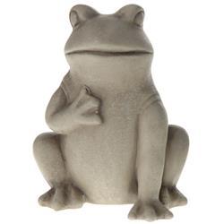Figurka dekoracyjna Żaba z łapką duża