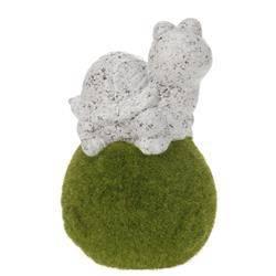 Figurka ogrodowa Żółw na kuli 15 cm
