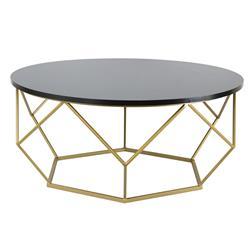 Stolik kawowy Diamond 90 cm złoto czarny