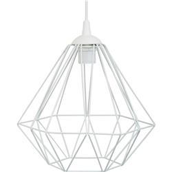 Lampa geometryczna Diamond biała 25 cm