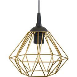 Lampa geometryczna Diamond złota 19 cm