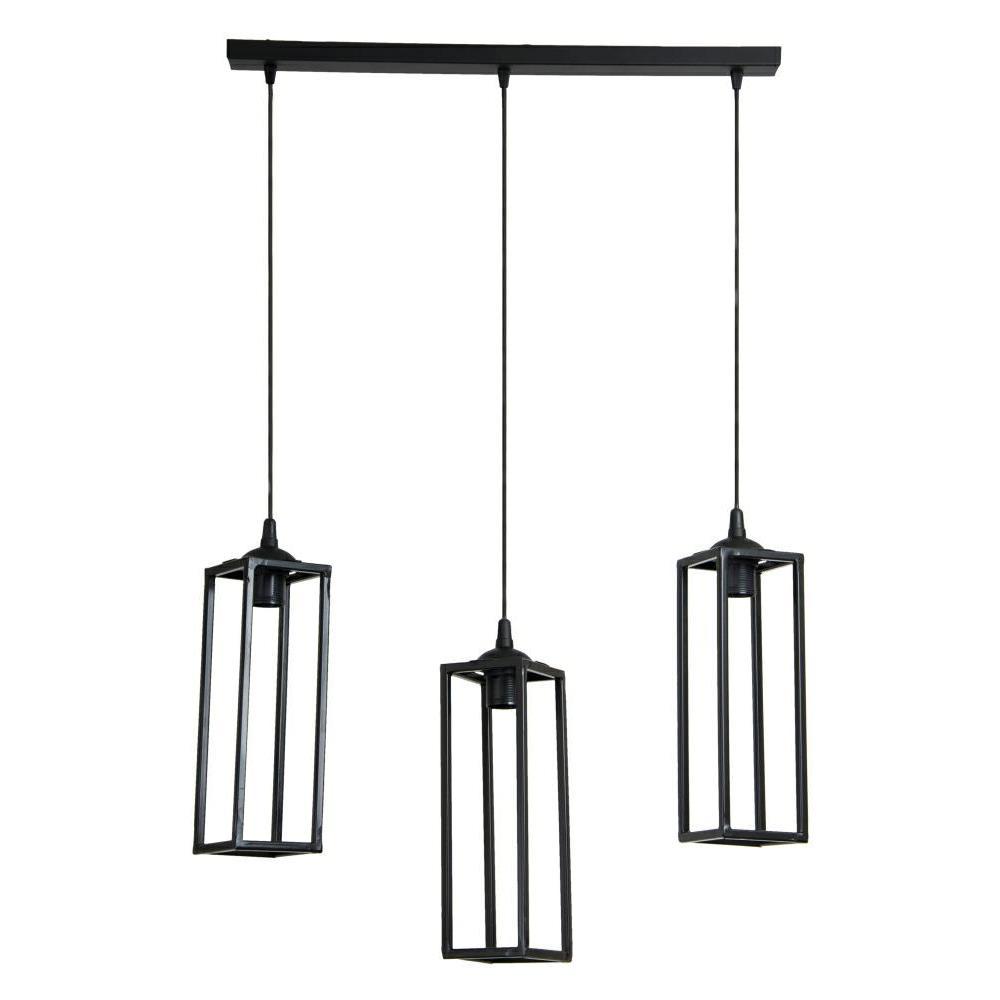 Lampy geometryczne loft czarne 30 cm
