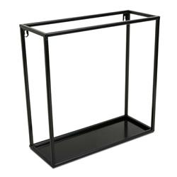 Półka wisząca ścienna metal czarna 40 cm