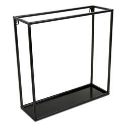 Półka wisząca ścienna metal czarna 45 cm