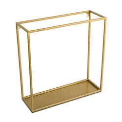 Półka wisząca ścienna metal złota 45 cm