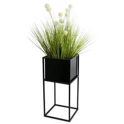 Nowoczesny kwietnik stojak czarny 50 cm