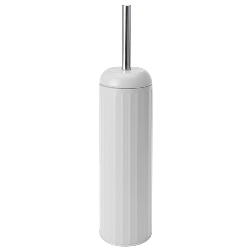 Szczotka toaletowa metalowa biała