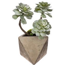 Roślina sztuczna w geometrycznej donicy