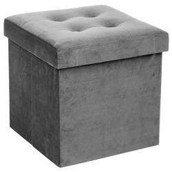 Pufa pikowana Adaline Grey 38x38 cm