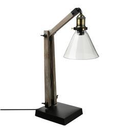 Drewniana lampka biurkowa Alak 59 cm