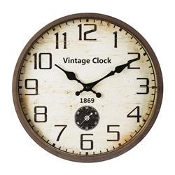 Zegar ścienny vintage brązowy 30 cm