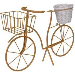 Kwietnik ogrodowy rower z donicą żółty