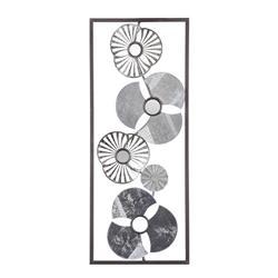 Metalowa ozdoba ścienna kwiaty 25x61 cm