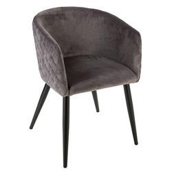 Krzesło Marlo Velvet szare