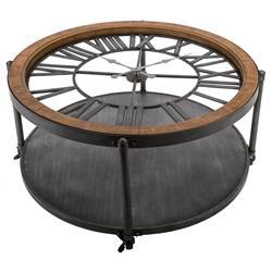 Stolik kawowy Torof z zegarem 90 cm