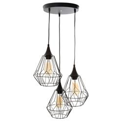 Potrójna lampa wisząca Kaore