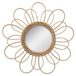 Wiklinowe lustro kwiat 38 cm