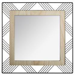 Kwadratowe lustro ścienne Joe 45x45 cm