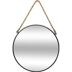 Okrągłe lustro ścienne na sznurze 55 cm