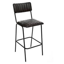 Skórzane krzesło barowe Dario Black