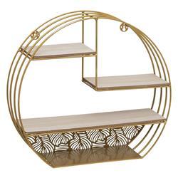 Metalowa półka ścienna Ferro złota